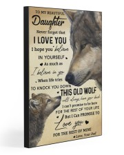 TO MY BEAUTIFUL DAUGHTER 20x30 Gallery Wrapped Canvas Prints front