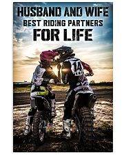 HUSBAND AND WIFE RIDING PARTNERS FOR LIFE  Vertical Poster tile