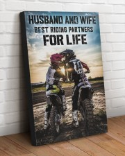 HUSBAND AND WIFE RIDING PARTNERS FOR LIFE  20x30 Gallery Wrapped Canvas Prints aos-canvas-pgw-20x30-lifestyle-front-14