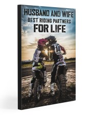 HUSBAND AND WIFE RIDING PARTNERS FOR LIFE  20x30 Gallery Wrapped Canvas Prints front