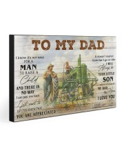 TO MY DAD - FARMER 30x20 Gallery Wrapped Canvas Prints front