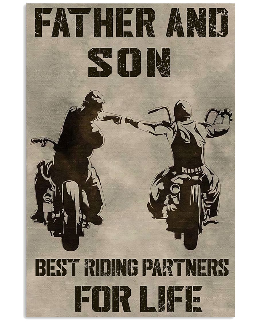 FATHER AND SON BEST RIDING PARTNERS FOR LIFE 11x17 Poster
