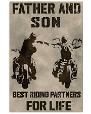 FATHER AND SON BEST RIDING PARTNERS FOR LIFE 11x17 Poster thumbnail
