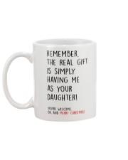 HAVING ME AS YOUR DAUGHTER  Mug back