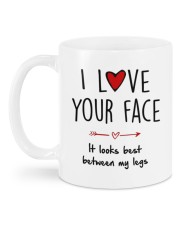 IT LOOKS BEST BETWEEN MY LEGS Mug back