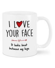 IT LOOKS BEST BETWEEN MY LEGS Mug front