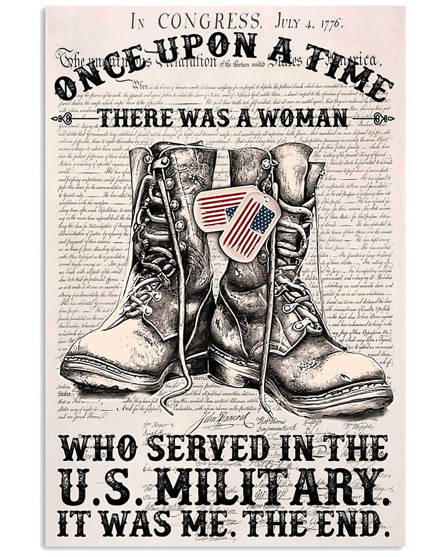 A WOMAN WHO SERVED IN THE US MILITARY 16x24 Poster