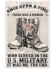 A WOMAN WHO SERVED IN THE US MILITARY 16x24 Poster front