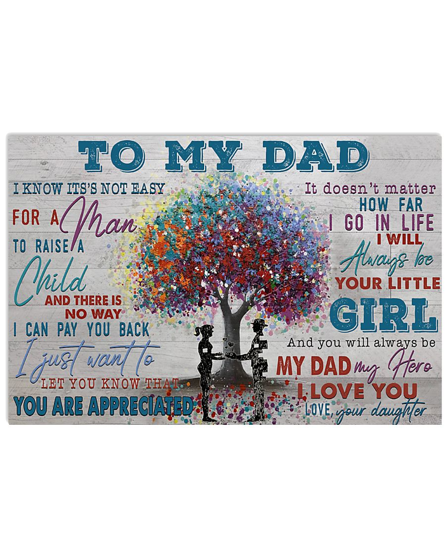 TO MY DAD - MB206 24x16 Poster