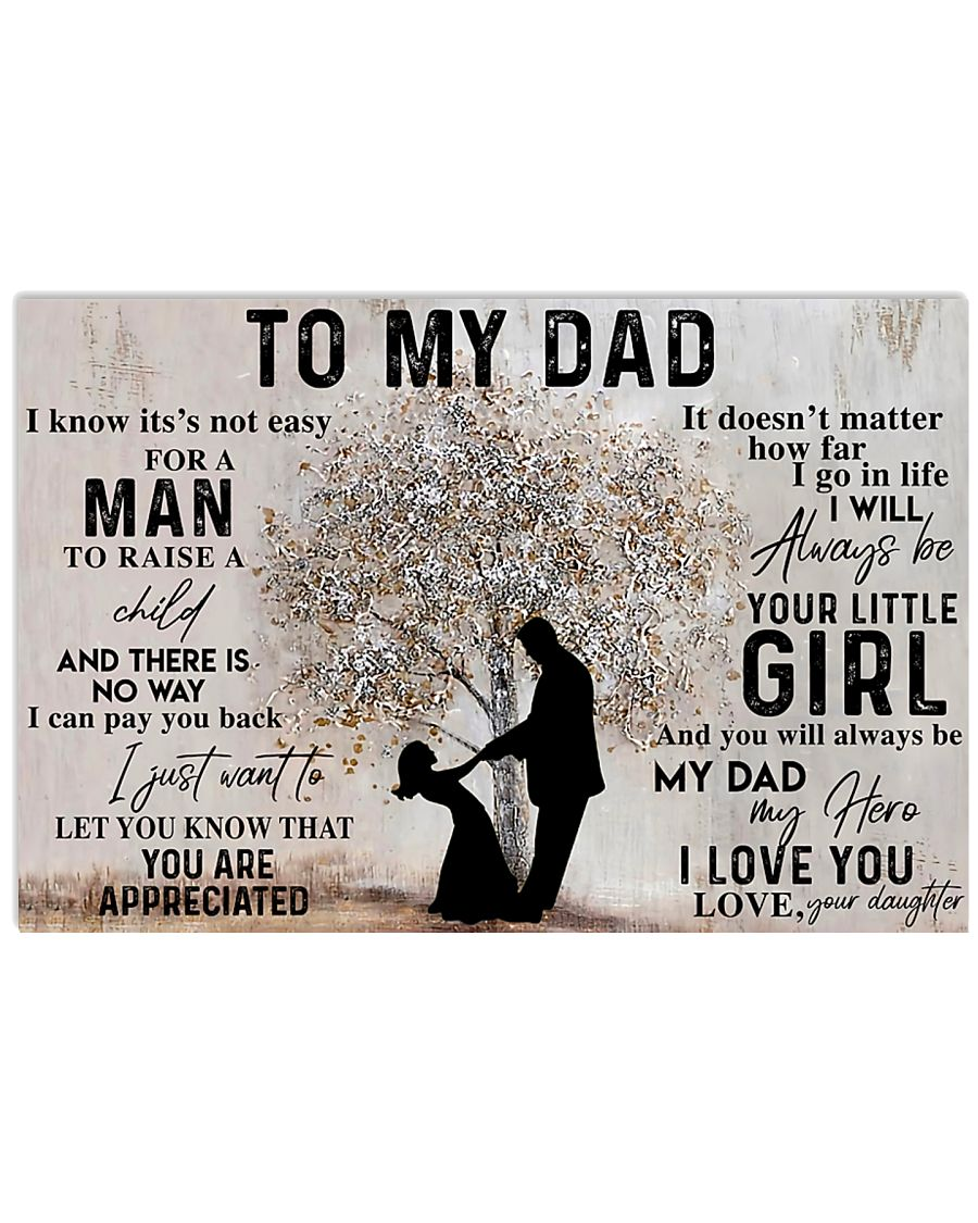 TO MY DAD - MB151 24x16 Poster