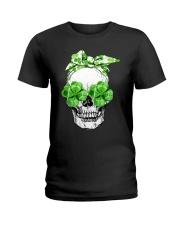 SHAMROCK SKULL Ladies T-Shirt thumbnail