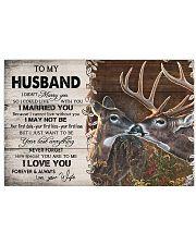 TO MY HUSBAND  Horizontal Poster tile