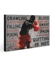QUITTING IS NOT  30x20 Gallery Wrapped Canvas Prints front