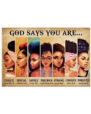 GOD SAYS YOU ARE  Horizontal Poster tile