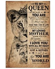 TO MY QUEEN 24x36 Poster front