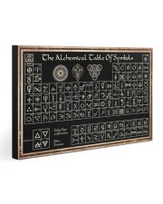 THE ALCHEMICAL TABLE OF SYMBOLS 30x20 Gallery Wrapped Canvas Prints front