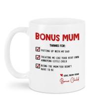 LOVE FROM YOUR BONUS CHILD Mug back