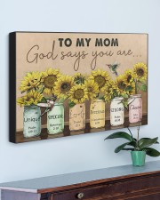 TO MY MOM GOD SAYS YOU ARE 30x20 Gallery Wrapped Canvas Prints aos-canvas-pgw-30x20-lifestyle-front-01