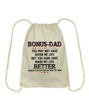 Happy Father's Day - MB74 Drawstring Bag thumbnail