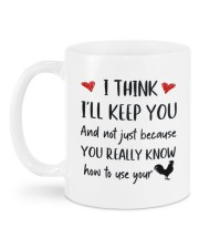YOU REALLY KNOW HOW TO USE YOUR COCK Mug back