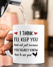 YOU REALLY KNOW HOW TO USE YOUR COCK Mug ceramic-mug-lifestyle-65