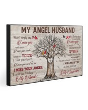 MY ANGEL HUSBAND 30x20 Gallery Wrapped Canvas Prints front