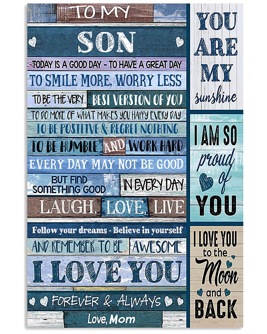 TO MY SON - MB331 16x24 Poster