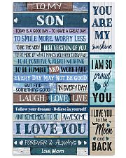 TO MY SON - MB331 16x24 Poster front