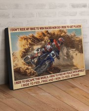 I RIDE TO FEEL STRONG 30x20 Gallery Wrapped Canvas Prints aos-canvas-pgw-30x20-lifestyle-front-07