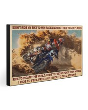 I RIDE TO FEEL STRONG 30x20 Gallery Wrapped Canvas Prints front