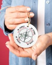 BE BADASS EVERYDAY Circle ornament - single (porcelain) aos-circle-ornament-single-porcelain-lifestyles-01