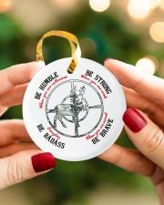 BE BADASS EVERYDAY Circle ornament - single (porcelain) aos-circle-ornament-single-porcelain-lifestyles-08