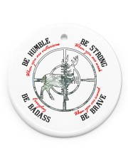 BE BADASS EVERYDAY Circle ornament - single (porcelain) front