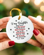 TO MY DAUGHTER  Circle ornament - single (porcelain) aos-circle-ornament-single-porcelain-lifestyles-08