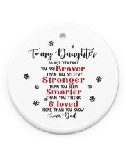 TO MY DAUGHTER  Circle ornament - single (porcelain) front