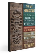 TO MY BONUS DAD 20x30 Gallery Wrapped Canvas Prints front