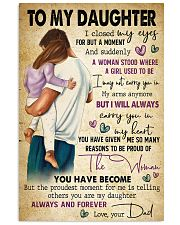 TO MY DAUGHTER  24x36 Poster front