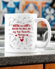 MAKING YOU HORNY AND SMILE  Mug ceramic-mug-lifestyle-57