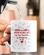 MAKING YOU HORNY AND SMILE  Mug ceramic-mug-lifestyle-65