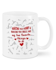 MAKING YOU HORNY AND SMILE  Mug front