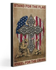 Stand for the flag Kneel for the cross 20x30 Gallery Wrapped Canvas Prints front