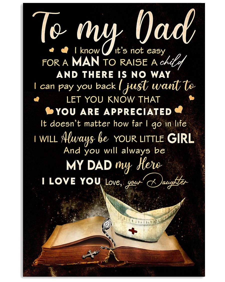 TO MY DAD - MB315 16x24 Poster