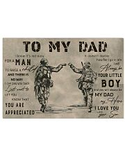 TO MY DAD - VETERANS- MB291 17x11 Poster thumbnail