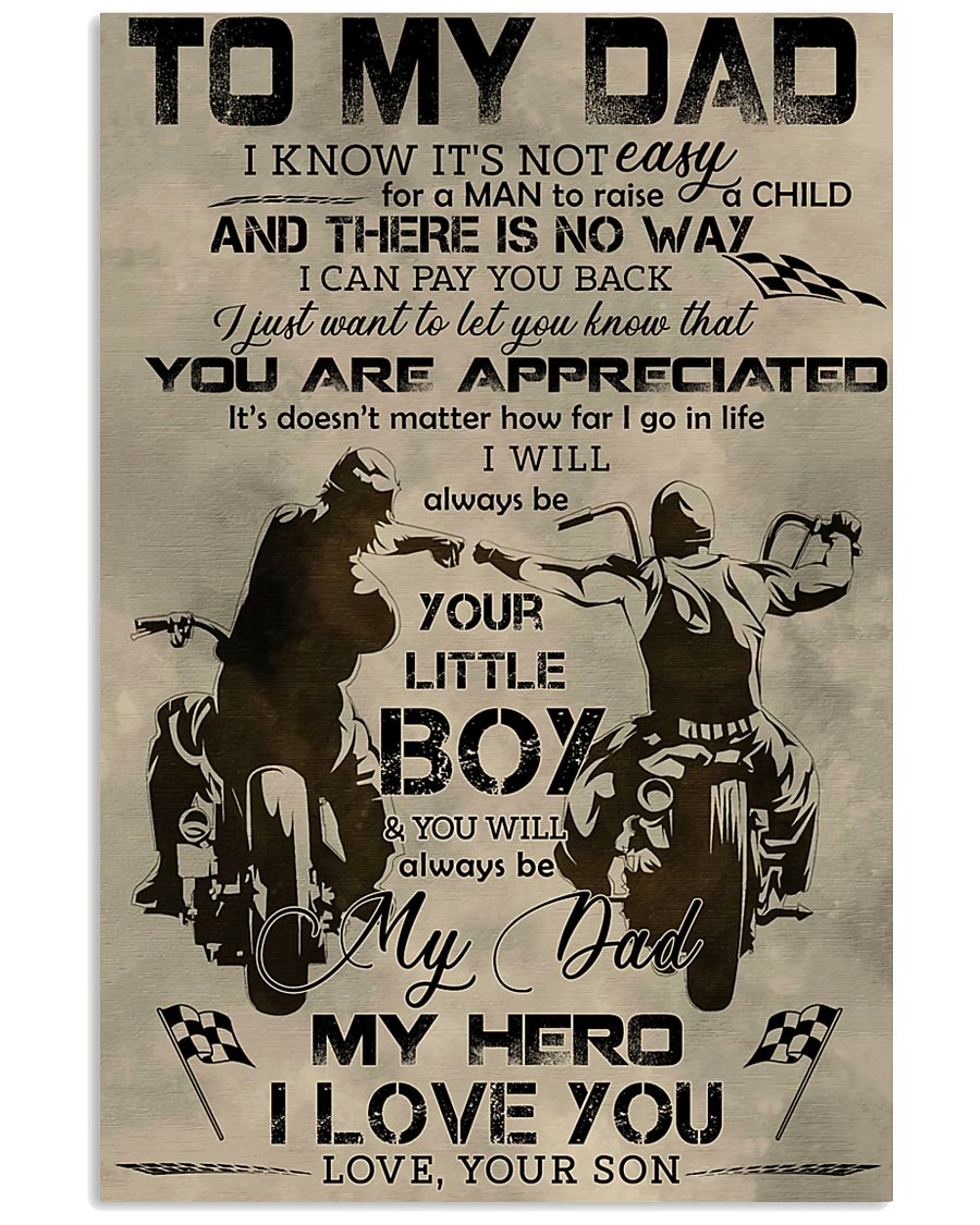 TO MY DAD - BIKER - MB304 16x24 Poster