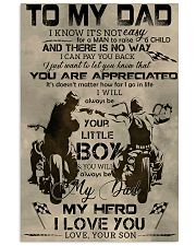 TO MY DAD - BIKER - MB304 16x24 Poster front