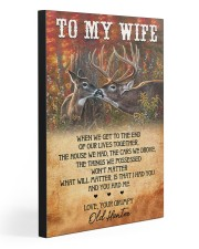 TO MY WIFE 20x30 Gallery Wrapped Canvas Prints front