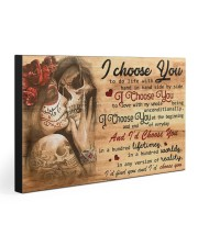 I choose you 30x20 Gallery Wrapped Canvas Prints front