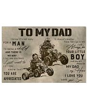 TO MY DAD - MB312 36x24 Poster front