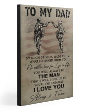 TO MY DAD - VETERAN  20x30 Gallery Wrapped Canvas Prints front