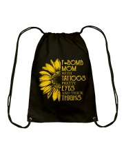 F-BOMB MOM  Drawstring Bag thumbnail